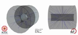 Столкновение протона и иона свинца так, как его видит эксперимент ALICE